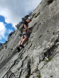David mountain climbing