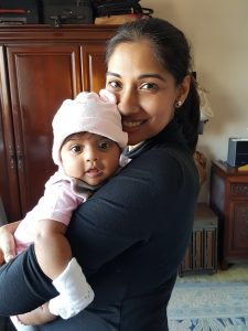 Shubhra and baby