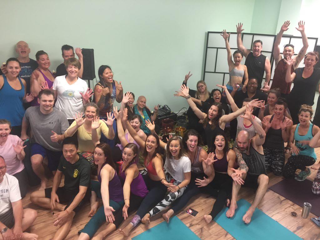 Firefly Yoga class
