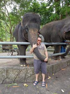 Ross with elephant
